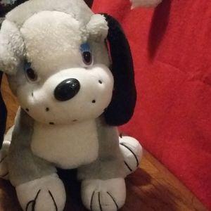 Cute adorable puppy stuffed animal